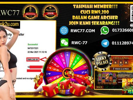Tahniah RWC77 member cuci dalam LPE88!!! Member masuk RM500 cuci RM9,200!!!!! Join Kami Sekarang!!!!