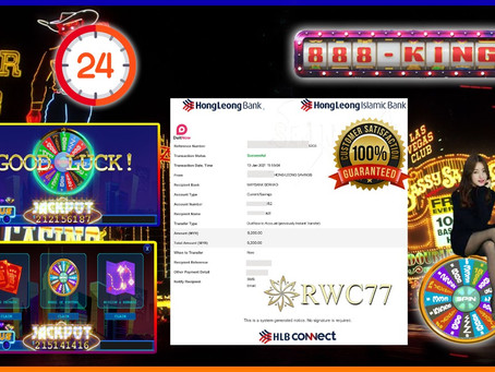 Congratulation RWC77 member withdraw RM9,200 inside 888KING!!! COME AND JOIN US WIN NOW!!!