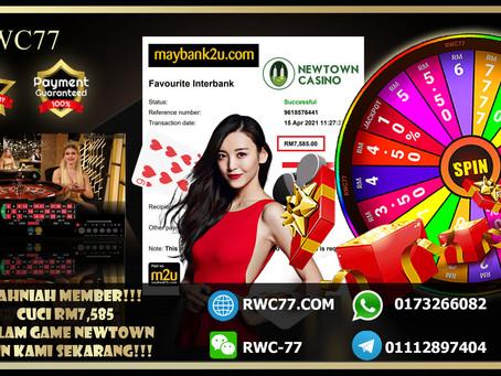 Congratulation RWC77 member withdraw RM7,585 inside game NEWTOWN (LIVE CASINO)!!!