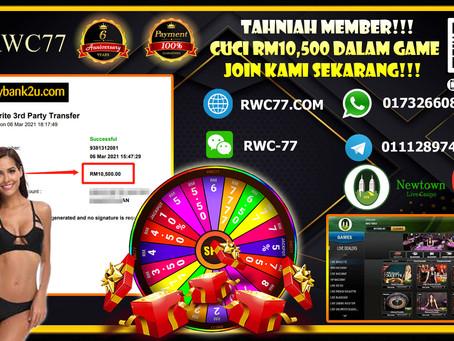 Tahniah member cuci RM10,500 dalam NEWTOWN LIVE GAME !!! Join Kami Sekarang!! Min deposit RM30!!!