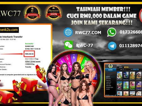 Tahniah member cuci RM8,000 dalam GAME NEWTOWN!!! Join Kami Menang Sekali!!!!
