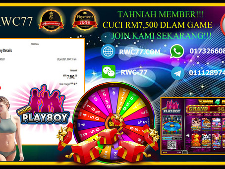 Congratulations To RWC77 member withdraw RM7,500 inside PLAYBOY!!! JOIN US NOW AND WIN PRIZE!!!