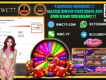 Tahniah!! Tahniah!! Member masuk deposit RM150 Cuci RM10,000 dalam Game SCR2(918kiss) Join Kami!!!!
