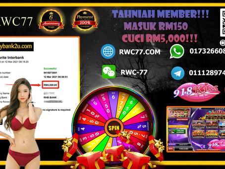 Tahniah member cuci RM5,000 dalam SCR2(918KISS) hanya deposit RM150 dapat cuci RM5,000!!!