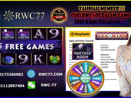 Tahniah member cuci RM8,500 dalam game 888KING!!! JOIN KAMI DENGAN MIN DEPOSIT RM30 SEKARANG!!!!