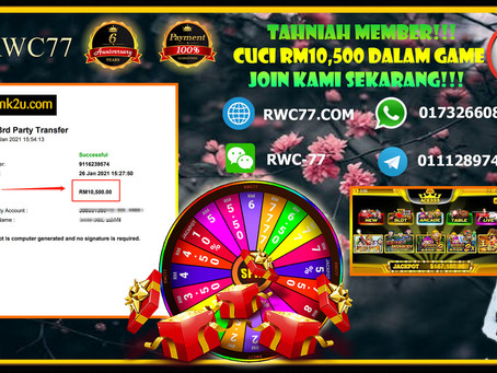 Congratulations RWC77 member withdraw RM10,500 inside ACE333!!! JOIN US NOW!!!