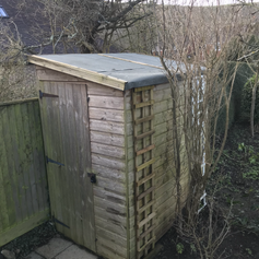 New Felt on Shed Roof