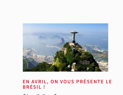 Voyager avec style au Brésil