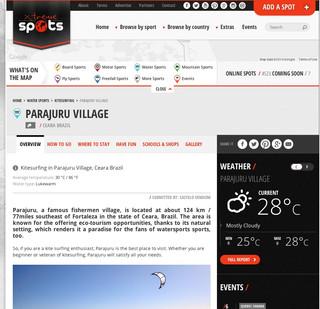 Parajuru, an extrem spot !