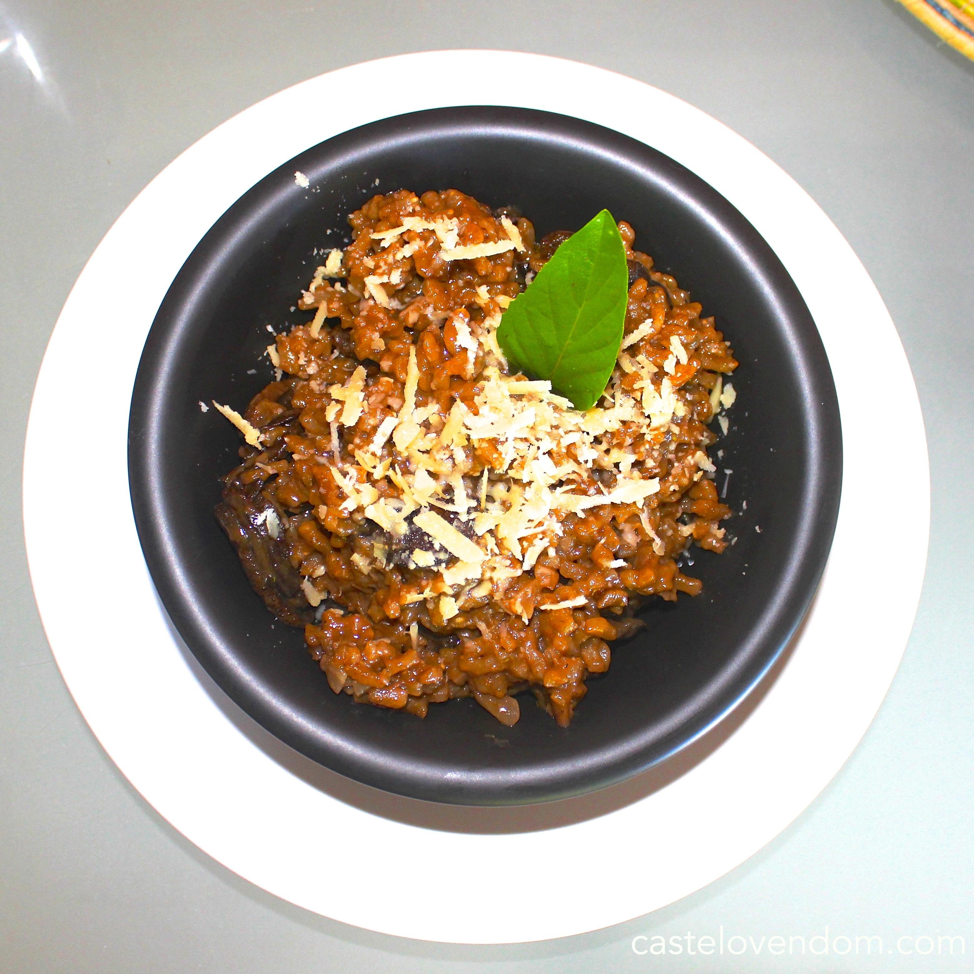 risotto champignons Castelo Vendom