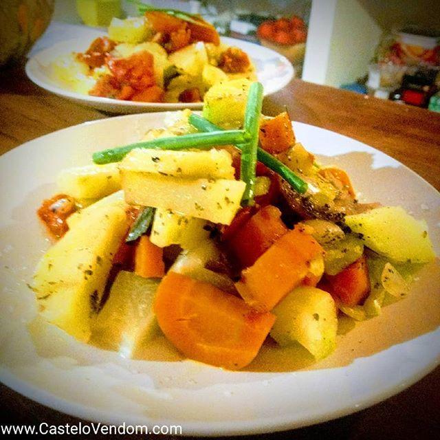 Légumes vapeur, huile d olive, sel de Gu