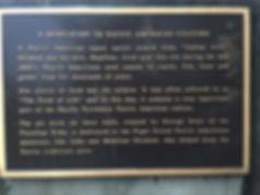 Dedication plaque to native american cul