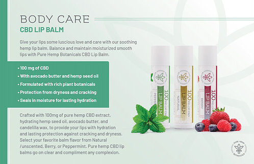 PHB Lip Balm 100 mg CBD