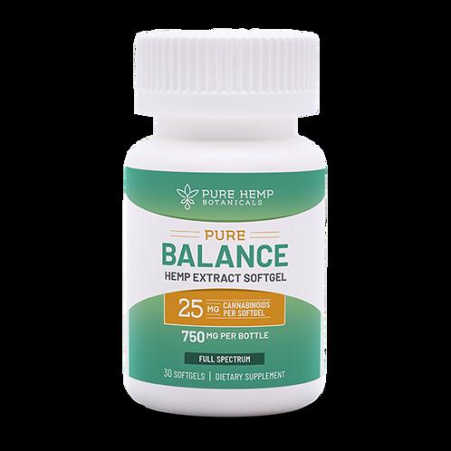 PHB Pure Balance Softgels 750 mg CBD (30-count, 25mg each)