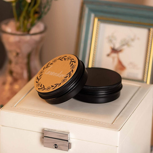 Fluid Ounce Size Round Tin With Screw On Lid