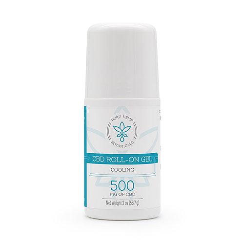 Roll On Cooling Gel 500 mg CBD (2 oz bottle)