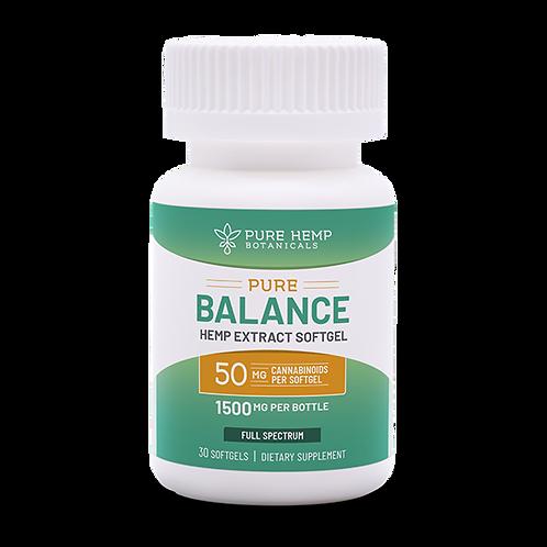 PHB Pure Balance softgels 1,500 mg CBD (30-count, 50mg each)