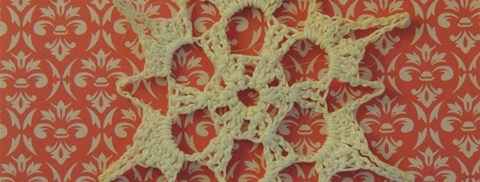 - Christmas Ornament - Handmade crochet Snowflake