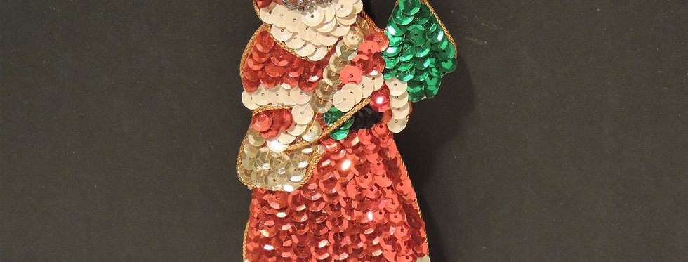 Christmas Ornament - Sequin Santa