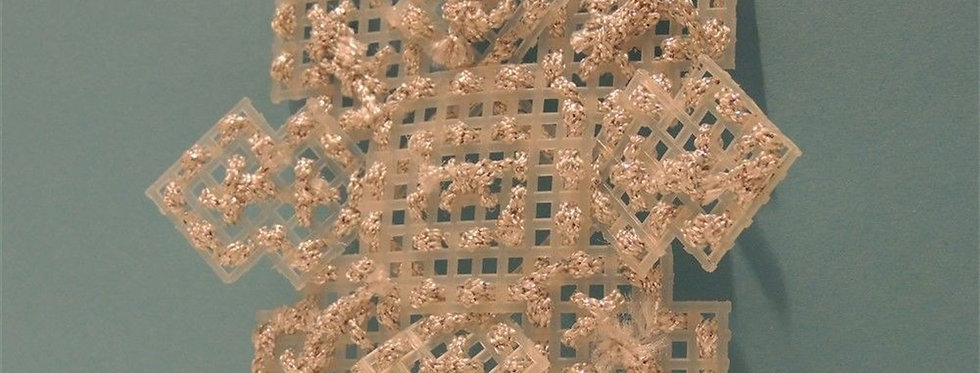 Christmas Ornament - Handmade Plastic Canvas Snowflake
