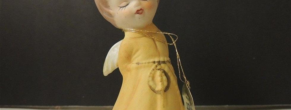 Christmas Decoration - Ceramic angel bell Figurine
