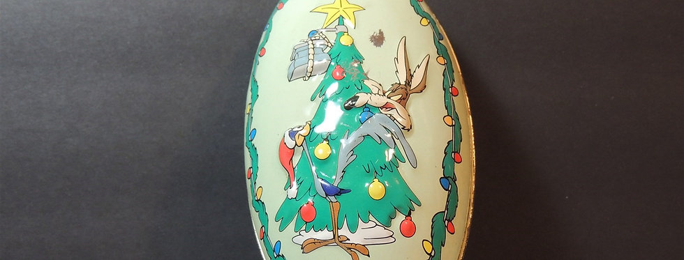 Holiday - HC00668 - Christmas Ornament - LOONEY TUNES Russell Stover Tin Coyote