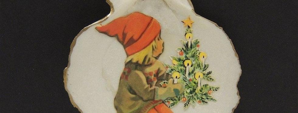 Christmas Ornament - Handmade Shell tree