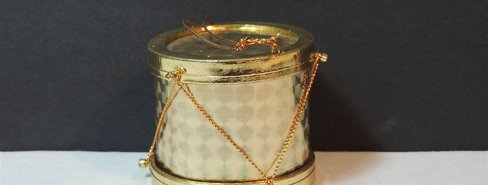 Christmas Ornament - Golden Foil Drum