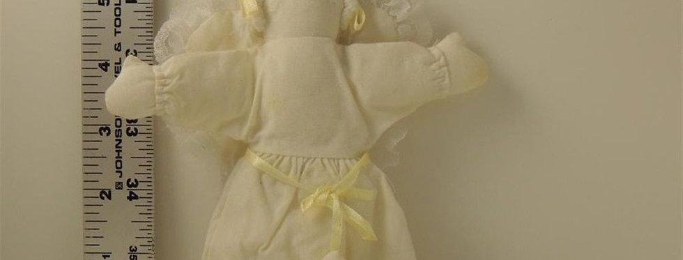 Christmas Ornament - Handmade Fabric Christmas Angel