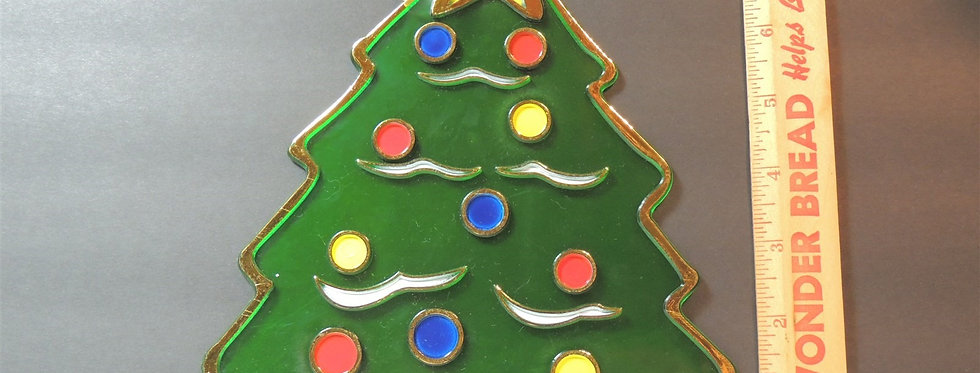Christmas Decoration - Plastic Tree with ornaments and star