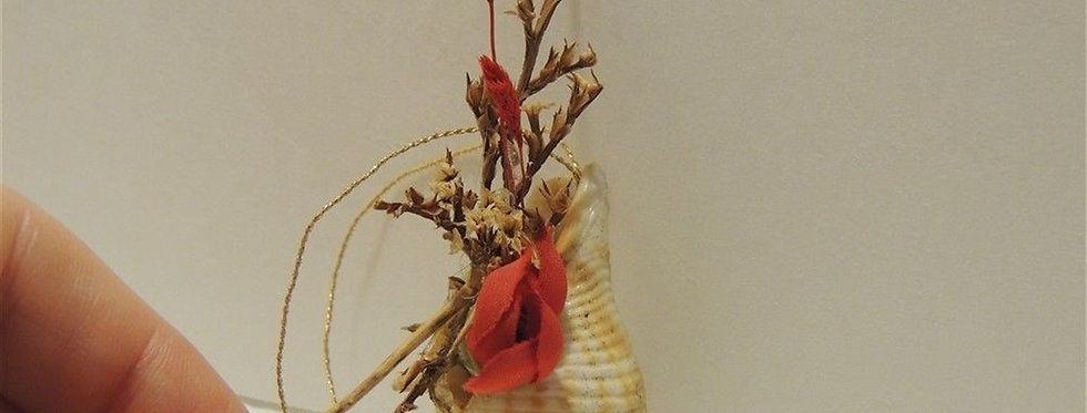 Christmas Ornament - Small sea shell