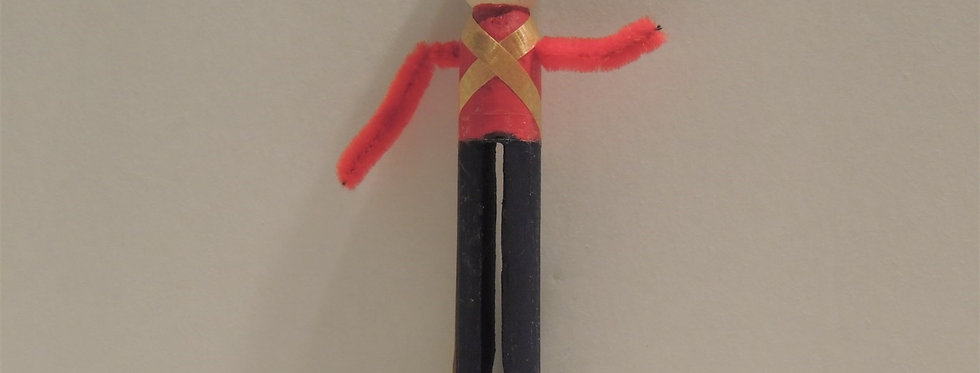Christmas Ornament - Handmade wooden Clothespin Solider