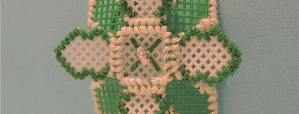 Christmas Ornament - Vintage handmade Snowflake