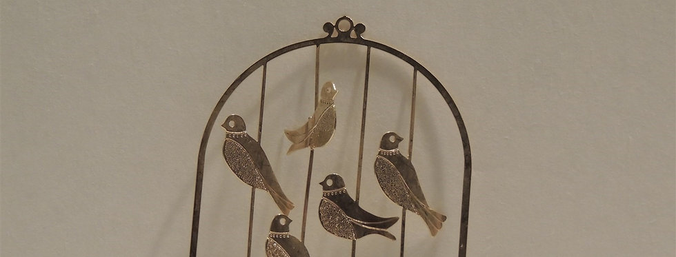 Christmas Ornament - Birds in Cage Engraved