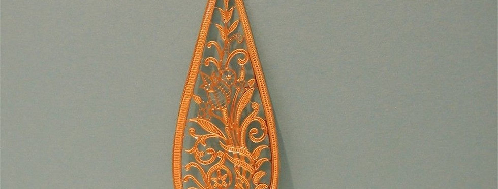 Christmas Ornament - Golden Filigree dangle