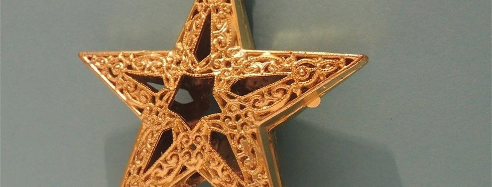 Christmas Discount - Golden Filigree Star Plastic Ornament