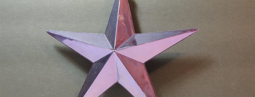 Christmas Ornament - Purple 5 point Star