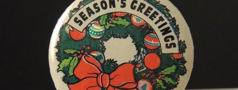 Christmas Decoration - Seasons greetings button