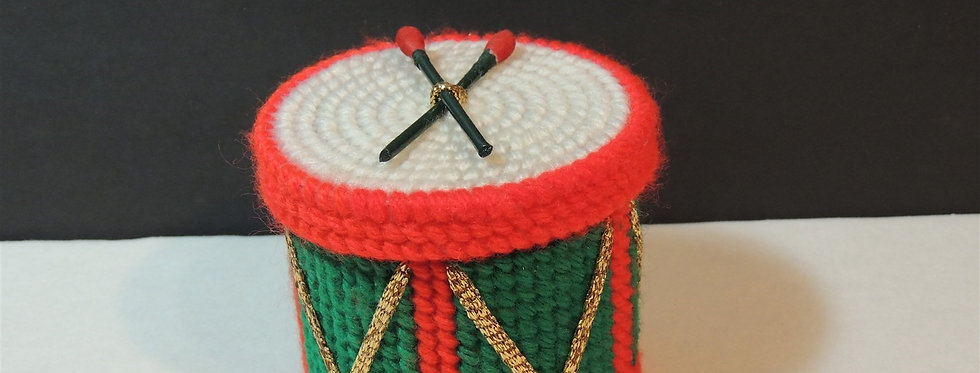 Christmas Ornament - Plastic canvas Potpourri Drum