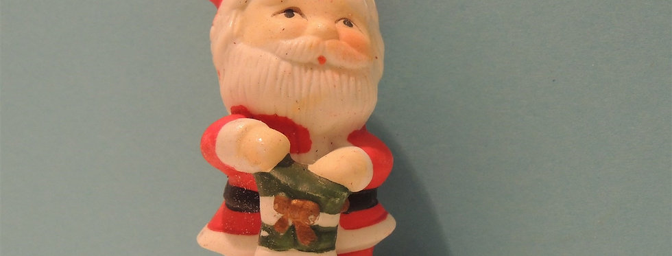 Christmas Ornament - Santa with a Stocking