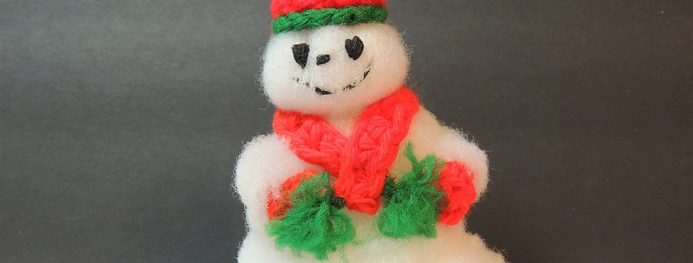 Christmas Ornament - Vintage Cottony Snowman