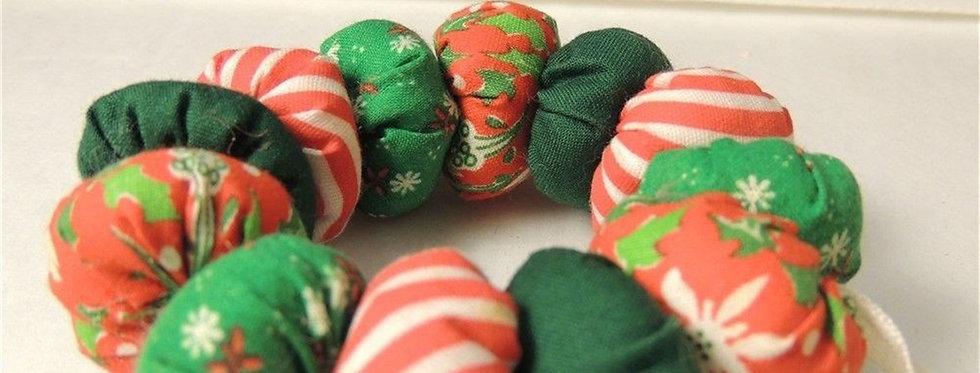 Christmas Ornament - vintage hand sewn Christmas wreath