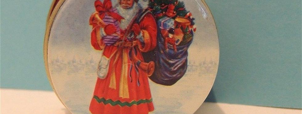 Christmas Decoration - Cute mini Santa tin