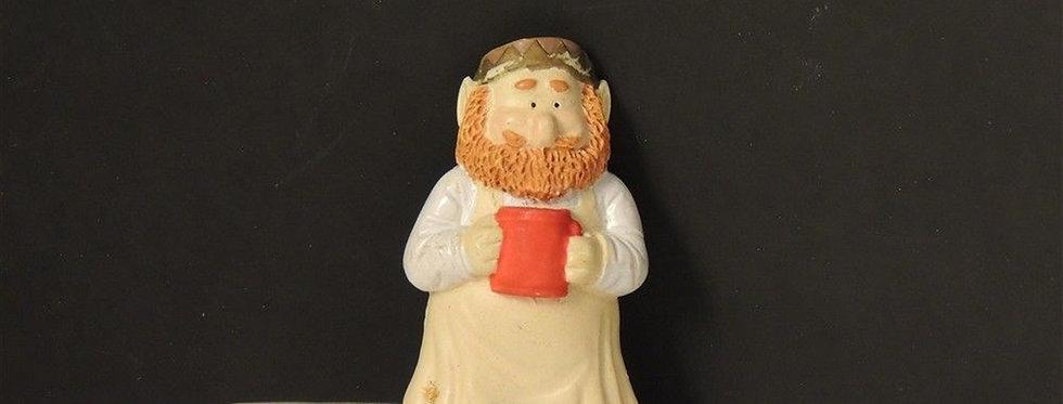Christmas Decoration - Elf with mug collectible magnet