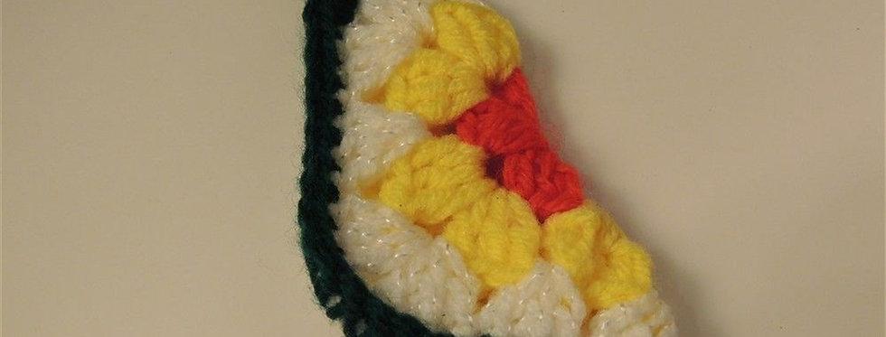 Christmas Ornament - Vintage Granny square Mini stocking