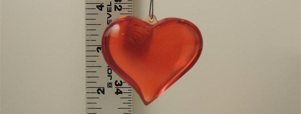 Christmas Ornament - Plastic Heart