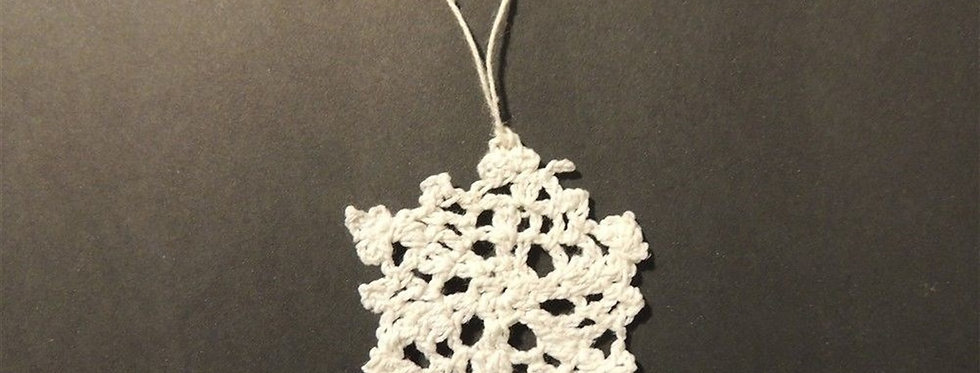 Christmas Ornament - Handmade crochet lace snowflake