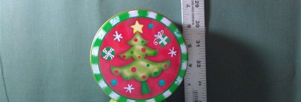 Christmas Decoration - Small Tree red & green Tin