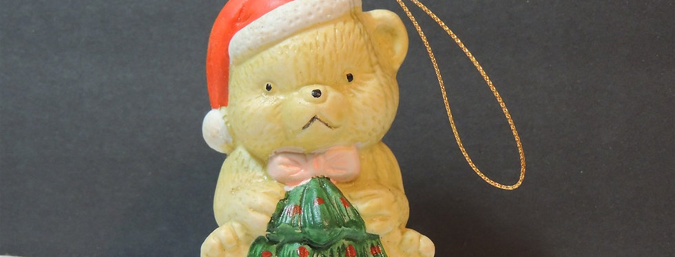 Christmas Ornament - Teddy Bear with Tree Bell