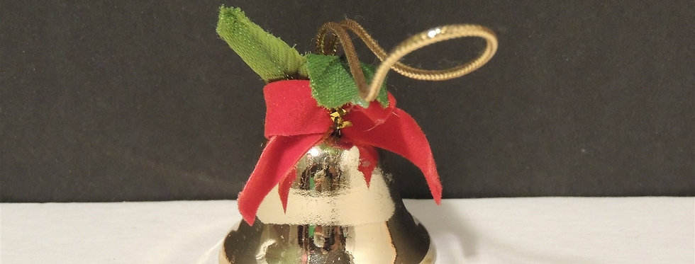 Christmas Discount - Golden bell with bow